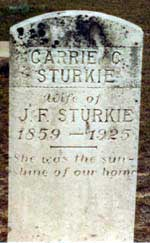 Grave of Carrie C. Sturkie